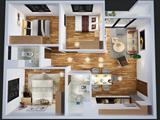 Phối cảnh căn hộ chung cư HQS